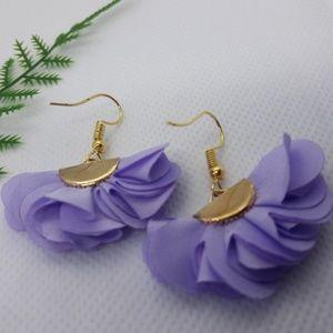 Lavender Silk Flower earrings
